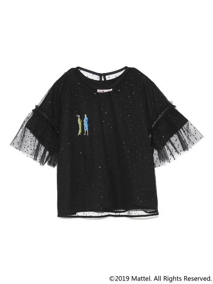 BarbieチュールレイヤーTシャツ(BLK-F)