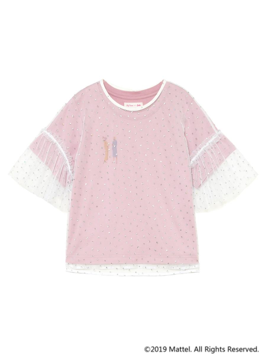 BarbieチュールレイヤーTシャツ(PNK(限定)-F)