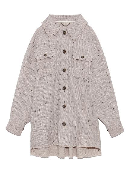 ツイードシャツジャケット