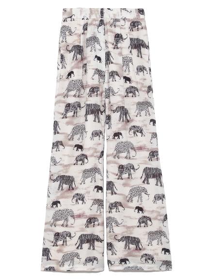 象柄パンツ