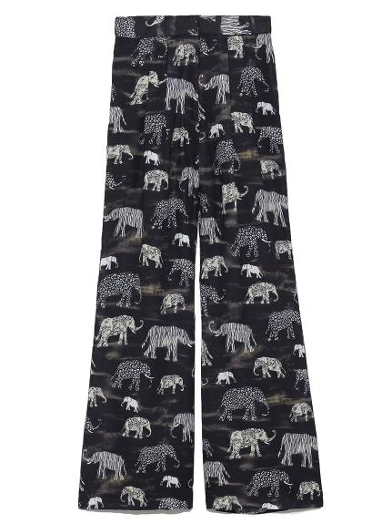 象柄パンツ(BLK-F)