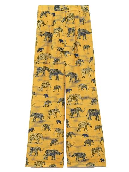 象柄パンツ(YEL-F)