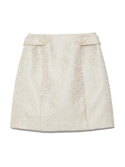ラメジャガードスカート