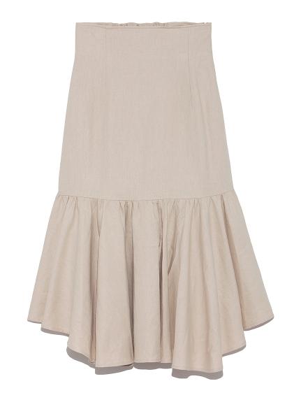 ランダム裾ハイウエストスカート