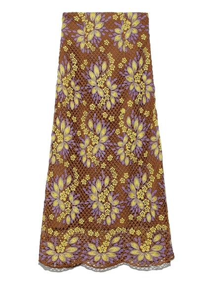 お花レースロングスカート(BRW-0)