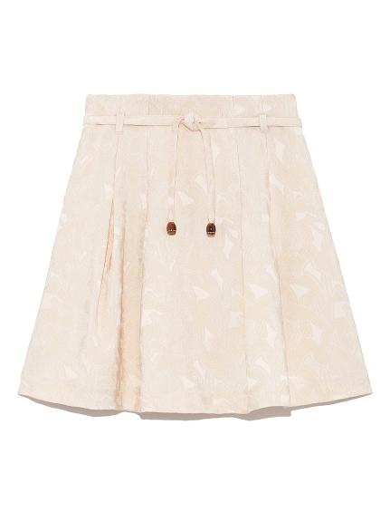 ジャガードフレアミニスカート