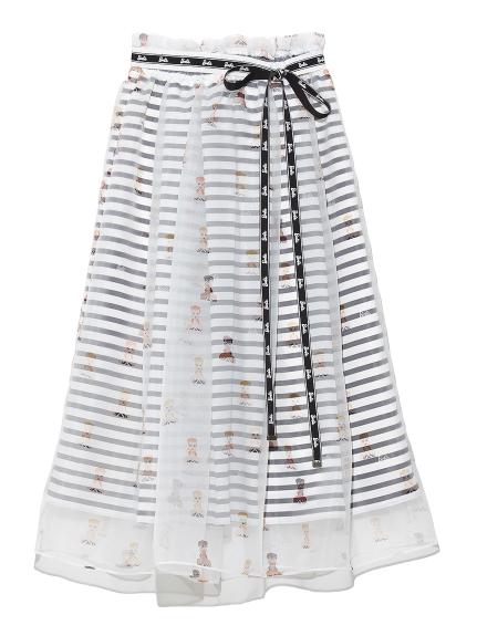 Barbieレイヤードスカート(BLK-F)