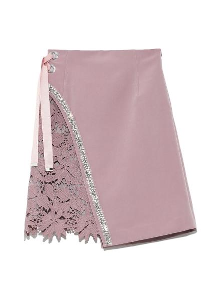 [L.B CANDY STOCK]ビジューレーススカート