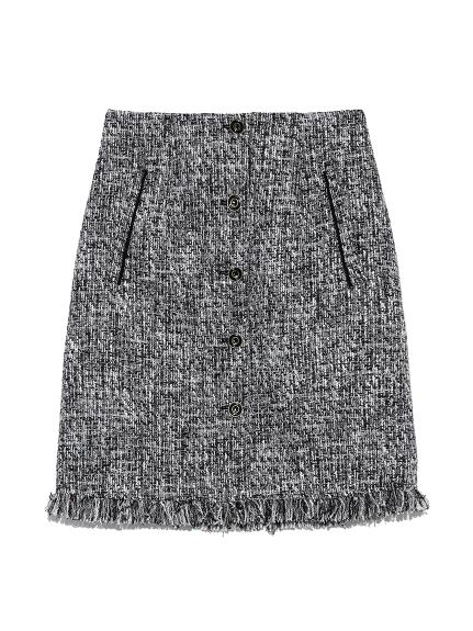 ツイード台形スカート(BLK-0)