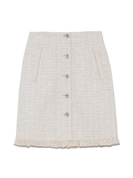 ツイード台形スカート(BEG-0)