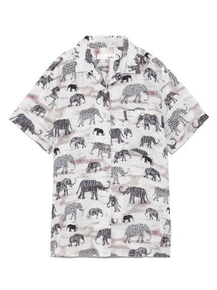 象柄シャツ