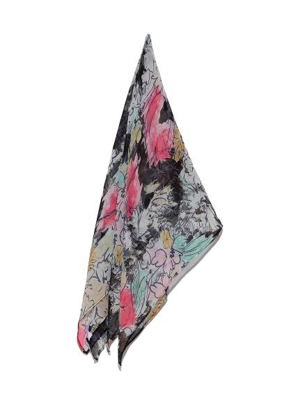 マーブルフラワースカーフ