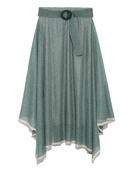 ヘムラインニットスカート